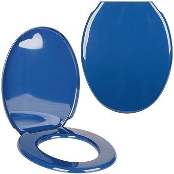 Promobo WC Sitz WC Design Uni blau marineblau Déco City ...