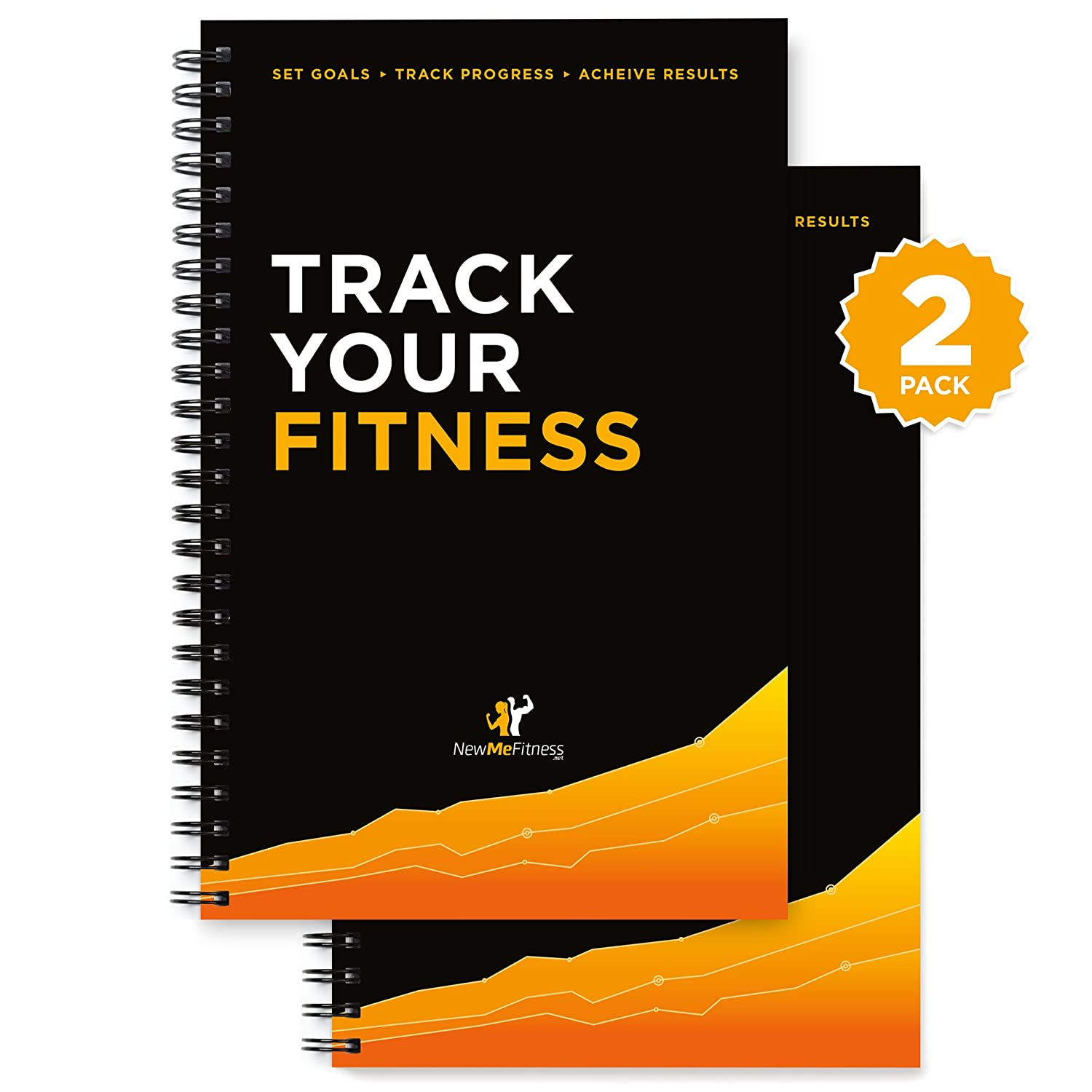 The Workout Log Book & Fitness Journal : Designed by Experts, with Illustrations :: Track Gym, Bodybuilding & Crossfit Progress : Sturdy Binding, Thick Pages, and Laminated, UV Protected Cover NewMe Fitness