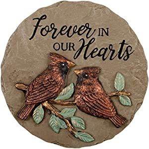 Carson Keynote Collection Our Hearts Mini Garden Stone