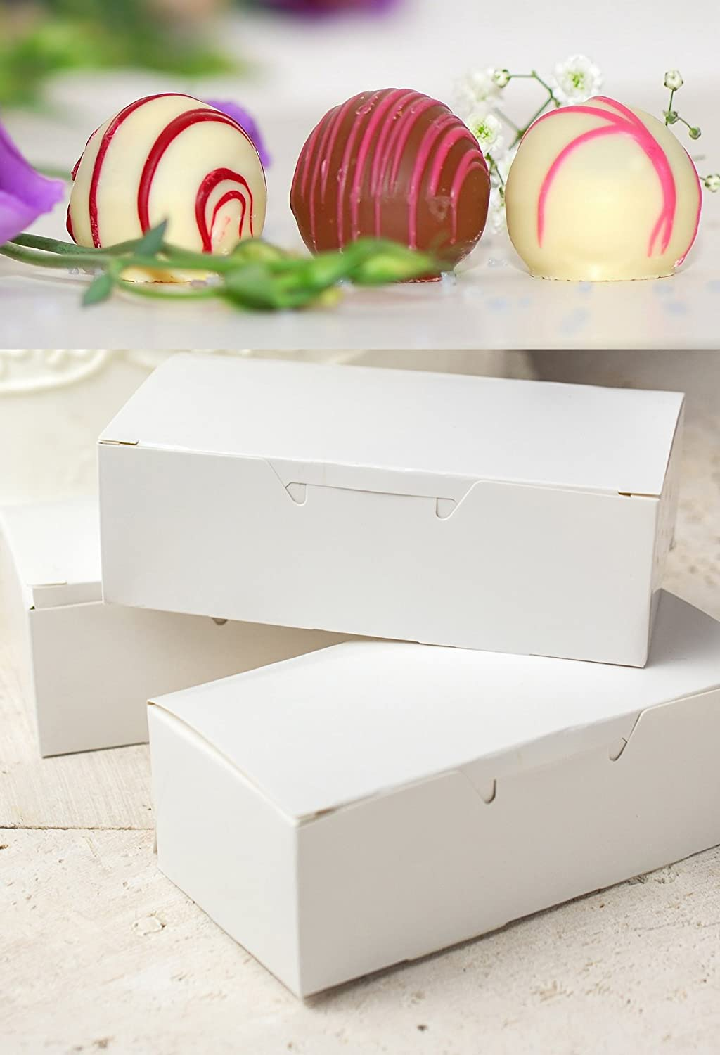Amazon.com: Mini Cupcake Liners White & Candy Nuts Box Packaging ...