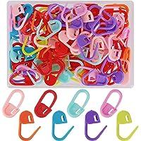 AIEX 100 Piezas Marcadores Ganchillo de Plástico, Marcadores