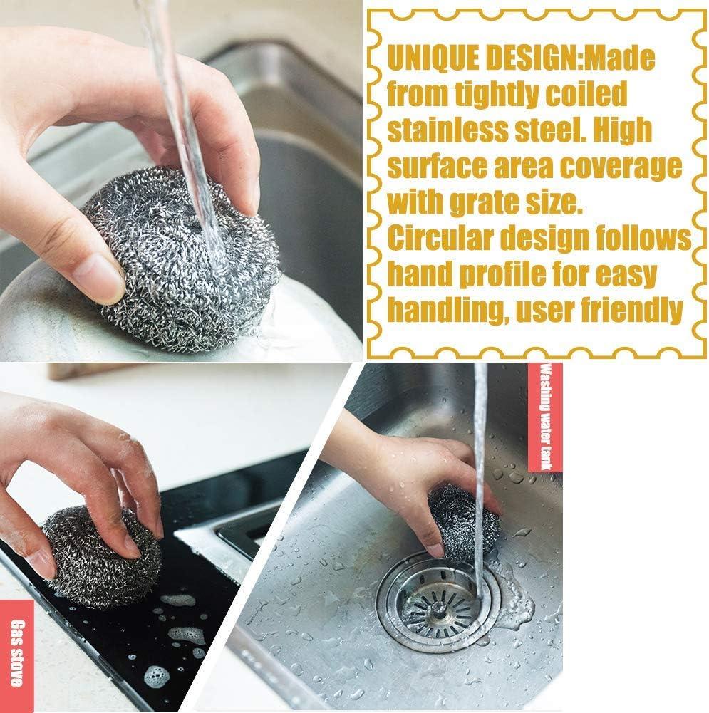 Lot de 20 /éponges en acier inoxydable pour nettoyer les ustensiles de cuisine