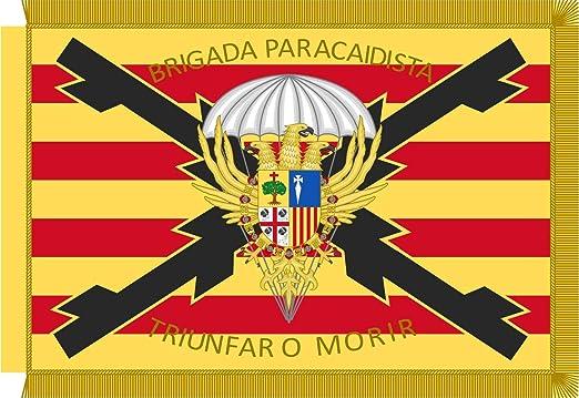 magFlags Bandera Large Estandarte de la Brigada «Almogávares» Vi de Paracaidistas Ejército de Tierra Español   Bandera Paisaje   1.35m²   90x150cm: Amazon.es: Jardín
