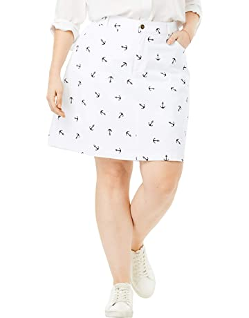 5c8d8f374 Woman Within Women's Plus Size Seaside Collection Printed Summer Skort