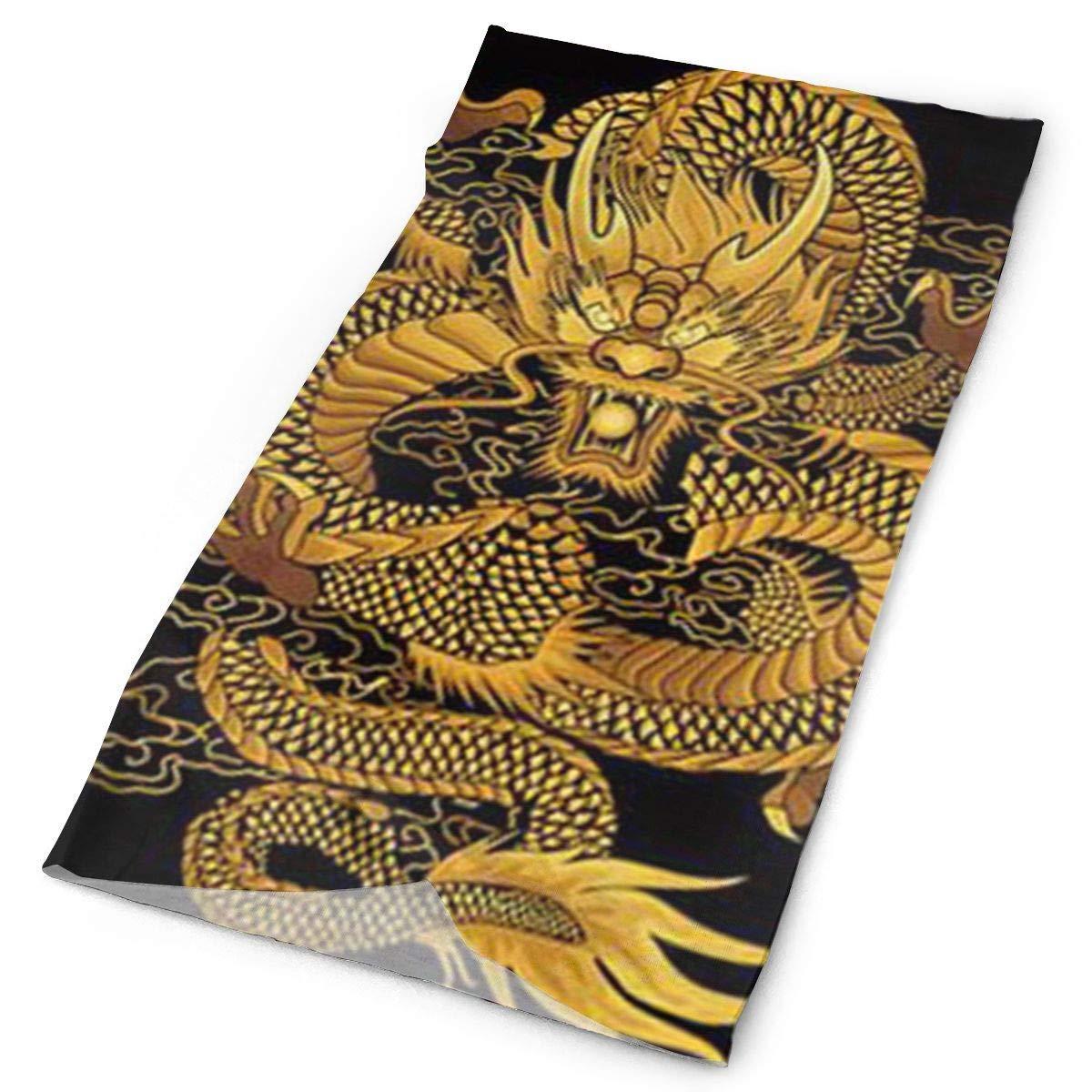 DIY Diamond Painting Dancing Chinese Dragon Original Headband with Multi-Function Sports and Leisure Headwear UV Protection Sports Neck, Sweat-Absorbent Microfiber Running, Yoga, Hiking