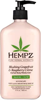 product image for Hempz Blushing Grapefruit & Raspberry Creme Herbal Body Moisturizer Lotion - Fruit Body Cream - Pure Hempseed Oil, Shea Butter, Ginseng, Natural Extracts, Vitamins A, C, and D, Cucumber Extract