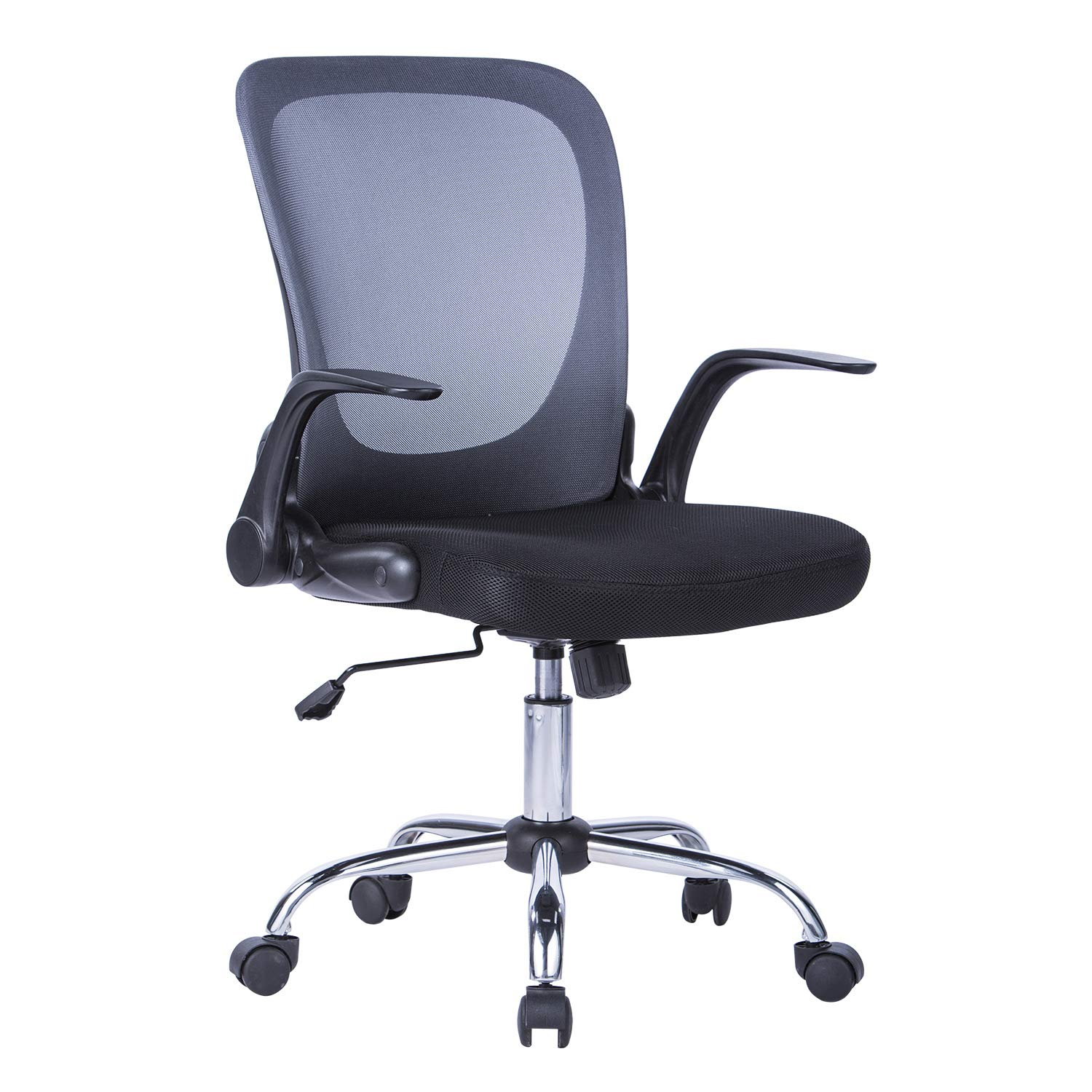 Brilliant Lianfeng Mid Back Mesh Task Chair Ergonomic Swivel Computer Desk Office Chair With Flip Up Arms Siutable For Office And Home Grey Creativecarmelina Interior Chair Design Creativecarmelinacom