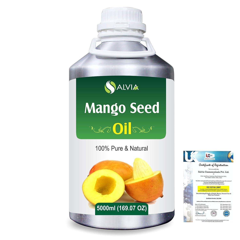Mango Seed (Mangifera indica)100% Natural Pure Carrier Oil 5000ml/169 fl.oz. B07RG5CKCP