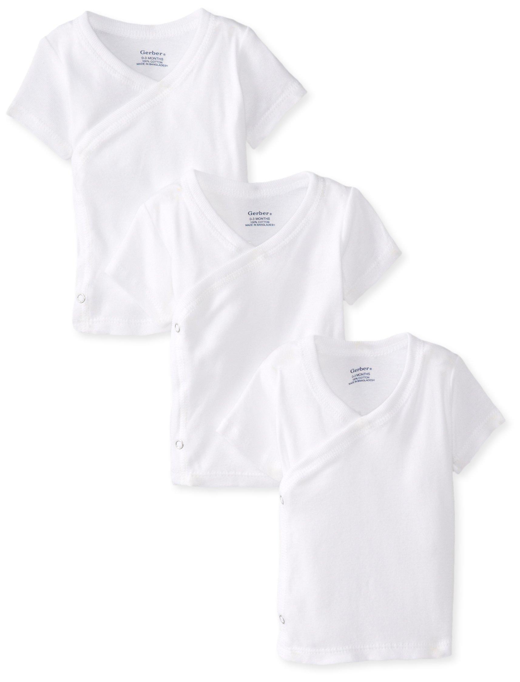 Gerber Baby 3-Pack Short-Sleeve Side-snap Shirt