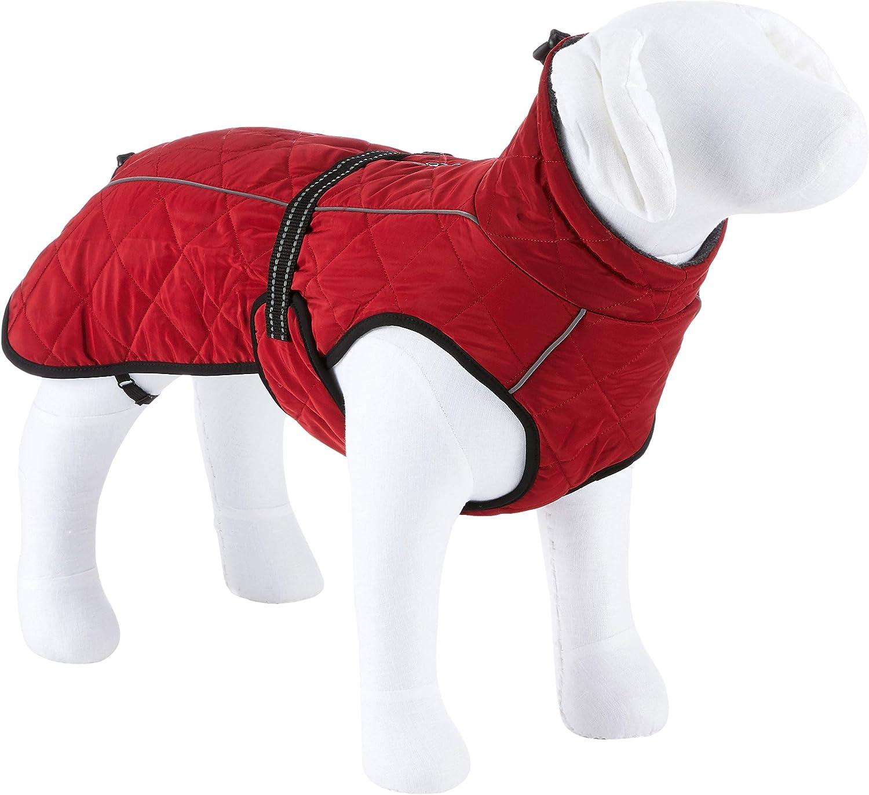 TRIXIE Abrigo Minot, L: 62cm: 62–89 cm, Rojo, Perro
