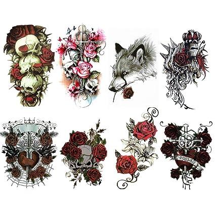Tojan: Set (lot) de 4 Tatuajes Temporales que representan Rosas en ...