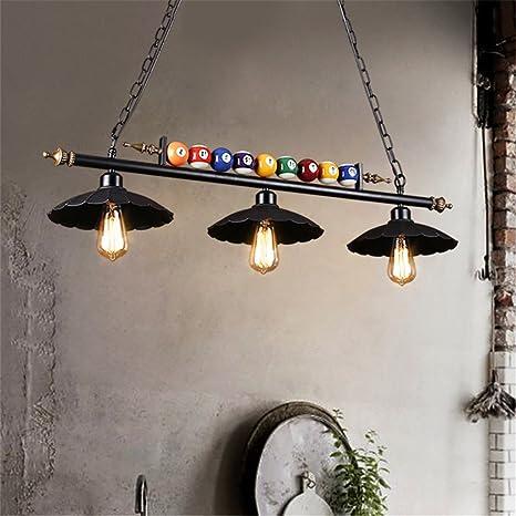 Hierro de TechoRetro Lámparas de lámpara de Billar 54Aj3RL