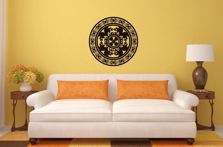 Amazon.com: Wall Decal Vinyl Sticker Flower Pattern Damask Bedroom ...