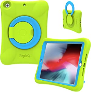 PEPKOO iPad 9.7 2017/2018 Case for Kids - Lightweight Shockproof Handle Stand Rugged Cover for Apple iPad 6th Generation/5th Gen/Air/Air 2 (Green)