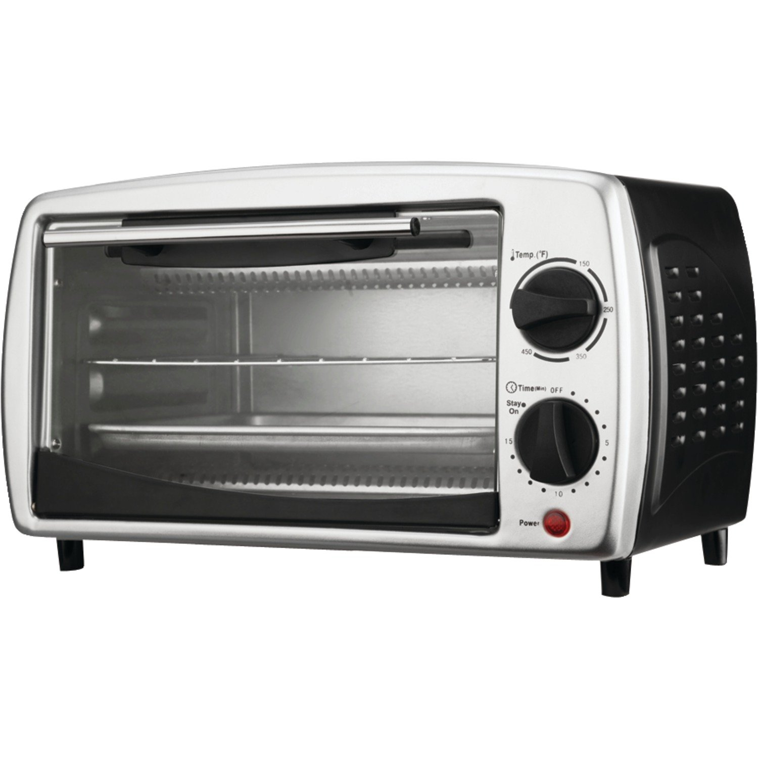 Brentwood TS-345B Stainless Steel 4 Slice Toaster Oven, Black