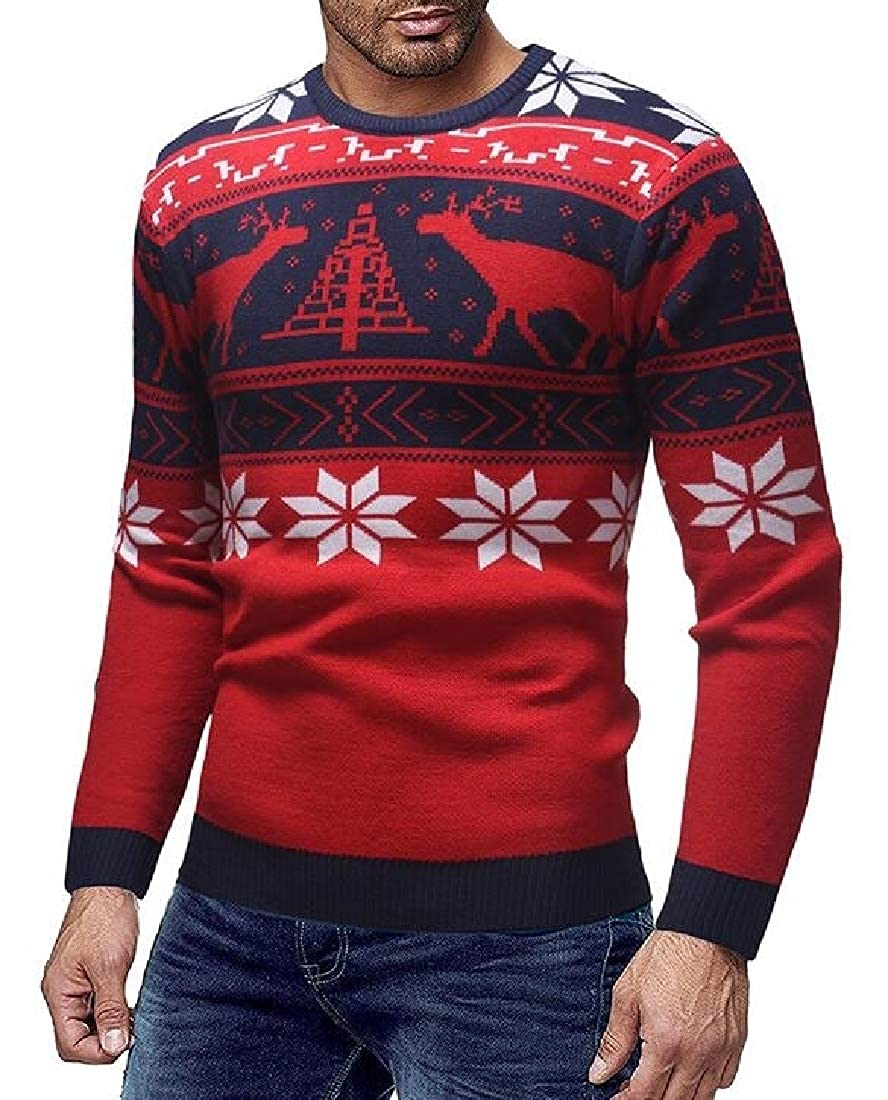 ouxiuli Mens Winter Whale Tail Santa Sweater Funny Ugly Christmas Sweater