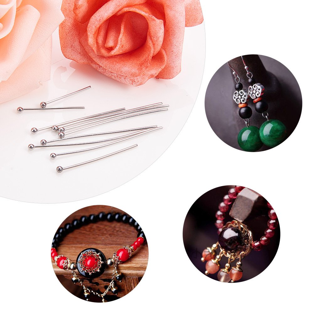 "PH PandaHall 500PCS 5-Sizes Stainless Steel Ball Head Pins Ball Headpins Ball Pins for DIY Jewelry Making 0.7/"", 0.8/"", 1/"", 1.2/"", 1.5/"""