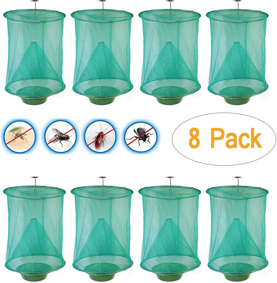 2 pcs Fly Max Best Reusable Fly Net Trap Outdoor Fly Trap Perfect For Horses XI