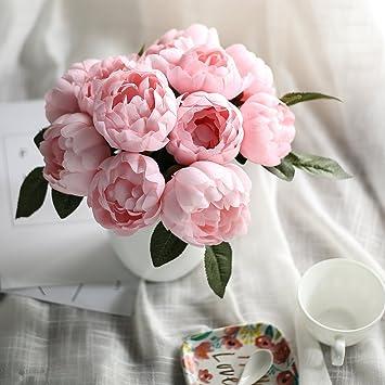 Luyue Kunstliche Pfingstrosen Seide Blumenstrauss Fur Zuhause
