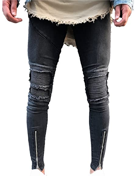 Amazon.com: LOSIBUDSA pantalones vaqueros ajustados para ...