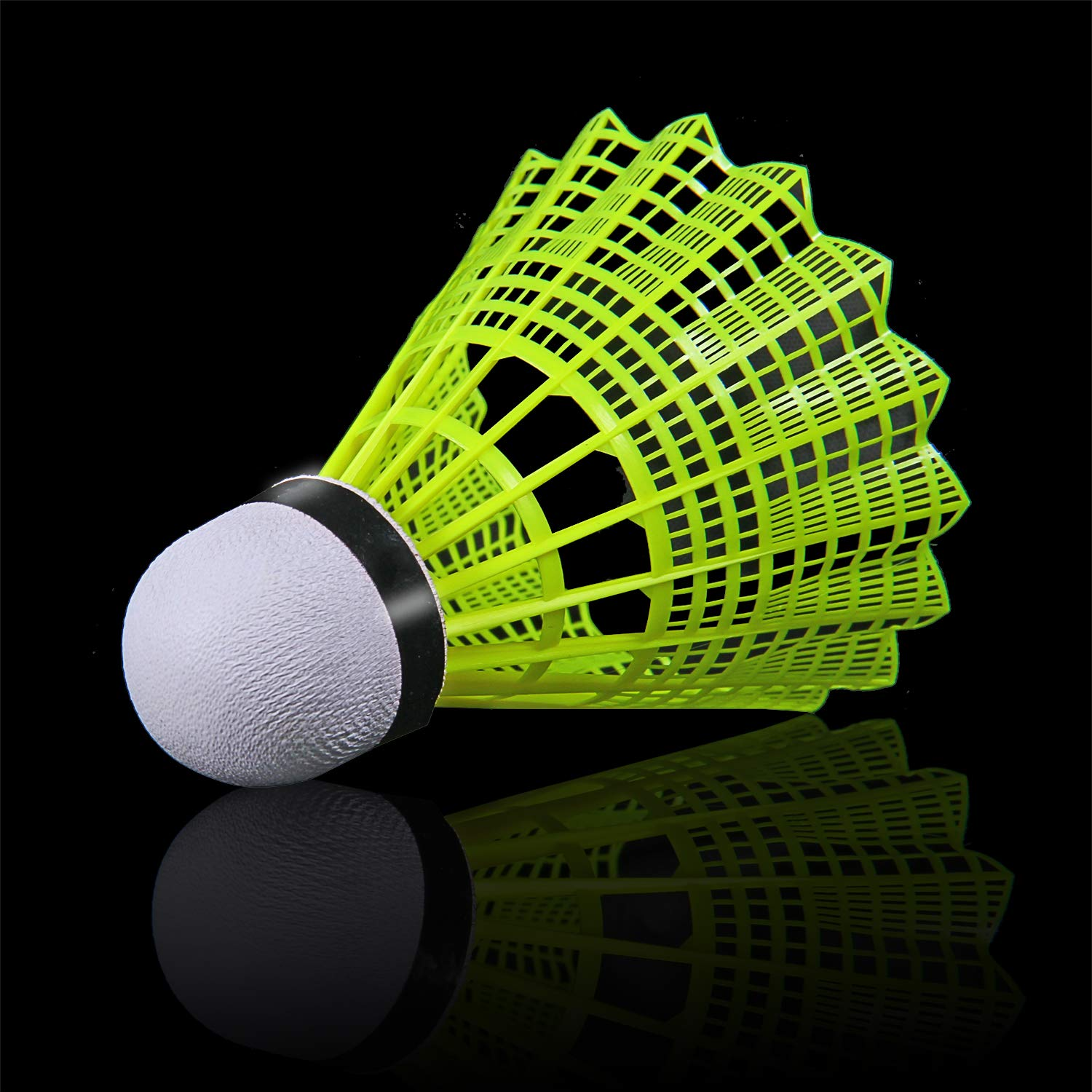 KEVENZ 12-Pack Advanced Nylon Feather Shuttlecocks,77 Grains-High Speed Badminton Balls (Yellow,Nylon) by KEVENZ (Image #2)