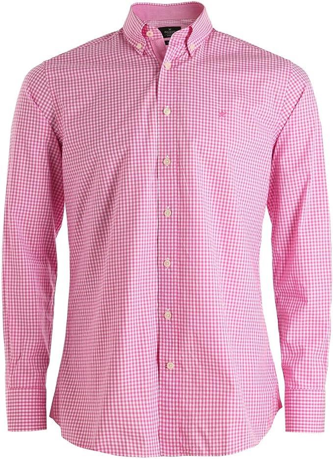 Hackett London Gingham Mult Tri Logo Camisa, Rosa (Pink 325), XXL para Hombre: Amazon.es: Ropa y accesorios