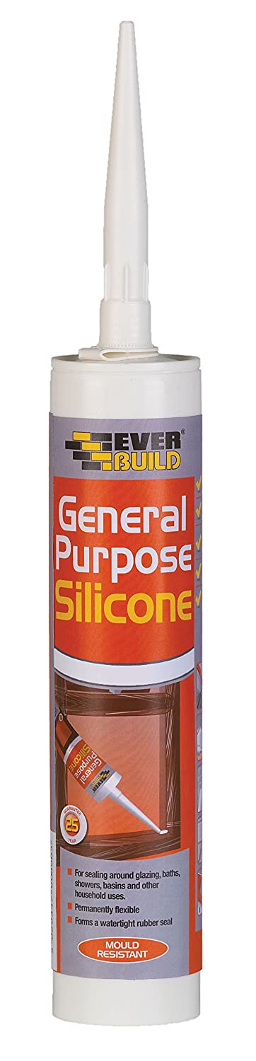 General Purpose Silicone - Multi-purpose silicone sealant - 310ml - Brown Everbuild GPSBN