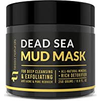 Dead Sea Mud Mask - Enhanced with Collagen - Reduces Blackheads, Pores, Acne, Oily Skin - Visibly Healthier Face & Body Complexion - All Natural Anti-Aging Formula for Women & Men