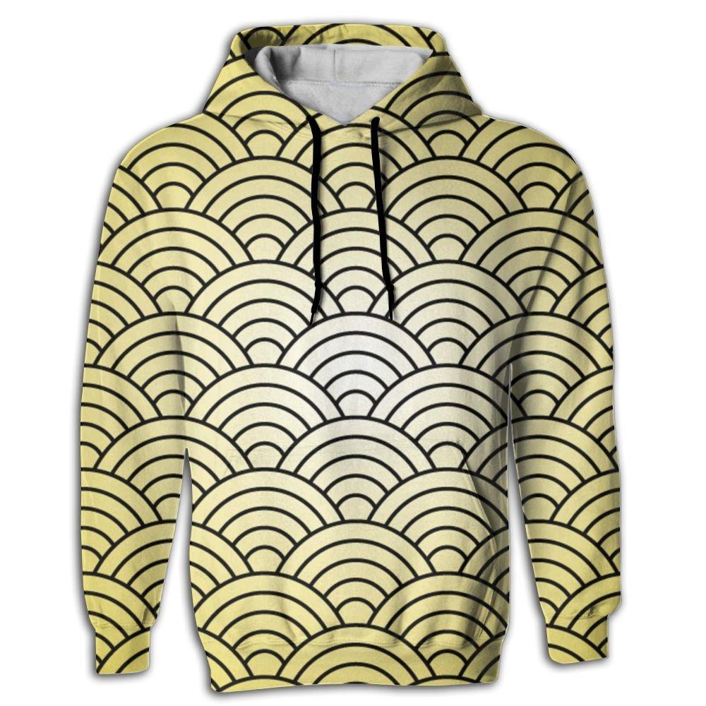 MCPWY Gold Fish Scales Mens Sleeve Hoodie Colorful Boys Mens Hoodies Fashionable Color Sweatshirt Men