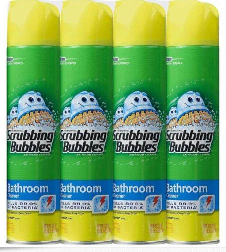 Scrubbing Bubbles Lemon Foaming Bathroom Cleaner 25 oz, 4 Pack, New!!! by Gravitymystore (Image #1)