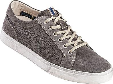 Tom Ramsey Leder Sneakers / Herren Schuhe Bequeme Freizeitschuhe mit heller Sohle in Used Optik / herausnehmbare...