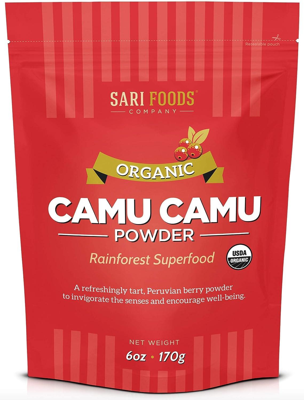 Pure Organic Camu Camu (6 Ounce): Natural Vegan Whole Food Vitamin C and Antioxidant Powder by Sari Foods Company