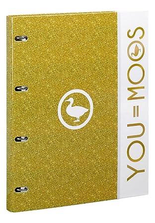 MOOS Gold - Carpeta A4 con Recambio 80h, Color Dorado (SAFTA 561618638): Amazon.es: Juguetes y juegos