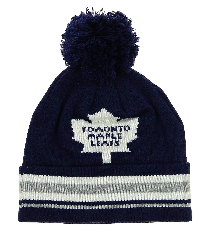 Reebok NHL ユース (8-20) トロントメープルリーフ 折り返しニット帽 ウィティポン付き
