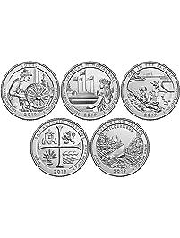 2019 P BU National Parks Quarters - 5 coin Set Philadelphia Mint Uncirculated