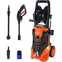 Vollplus 2000W Corded High Pressure Washer 6L/Min, 150Bar, 4 In 1 Adjustable Nozzle, Electric Washer for Vehicle, Driveways, Floor and Outdoor Furniture Cleaning VPHP1016