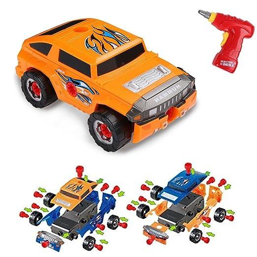 4 opinioni per Virhuck 36 pezzi Auto Giocattolo Prende-una-Parte per Bambini,Assemblare