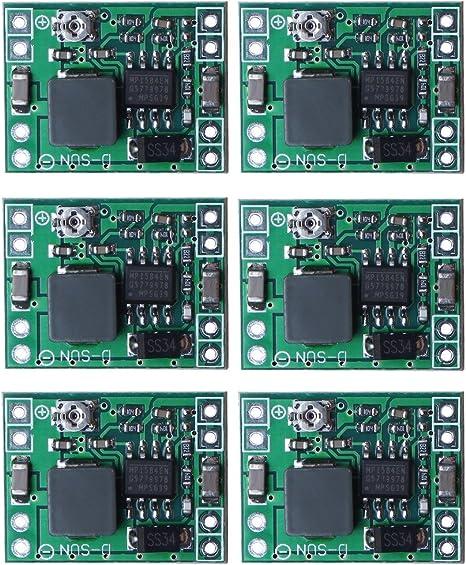 sicai Paquete de 6 placas Mini MP1584EN, CC-CC, convertidoras de ...