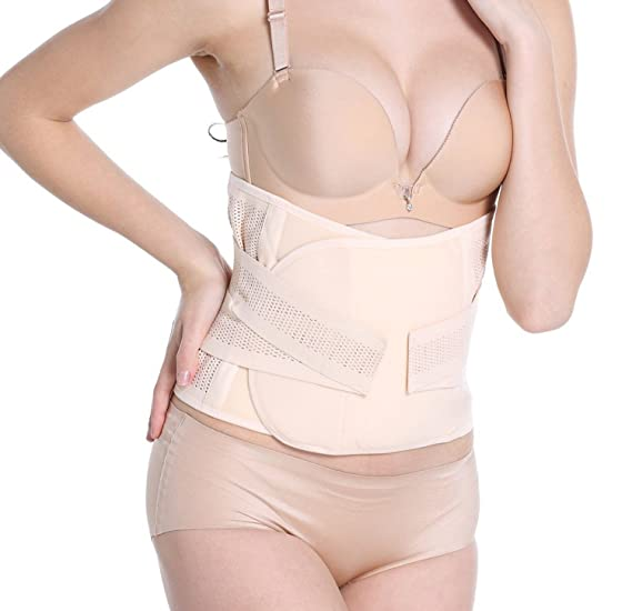 61a4c7d0ff47c Image Unavailable. Image not available for. Color  Women Waist Trainer  Cincher Belt Fitness Body Shaper Breathable Slimming Support Belt Shapewear  ...