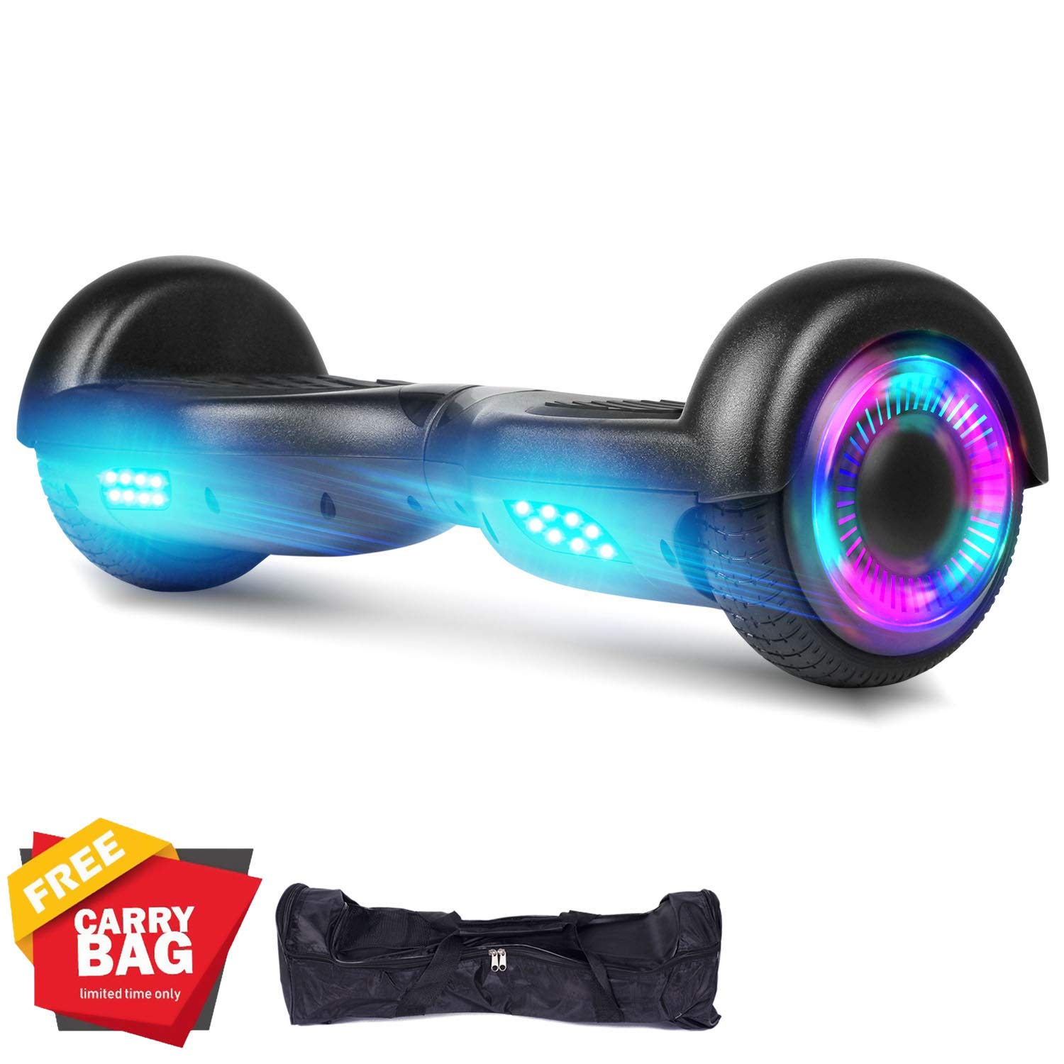 SWEETBUY Hoverboards UL Certified 6.5 Smart Scooter Two-Wheel self Balancing Electric Scooter Light Free Bag and Charger Included by SWEETBUY (Image #1)
