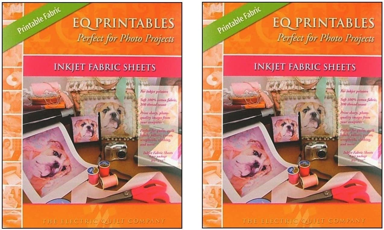 Eq Printables Inkjet Fabric Sheets 1 Pack