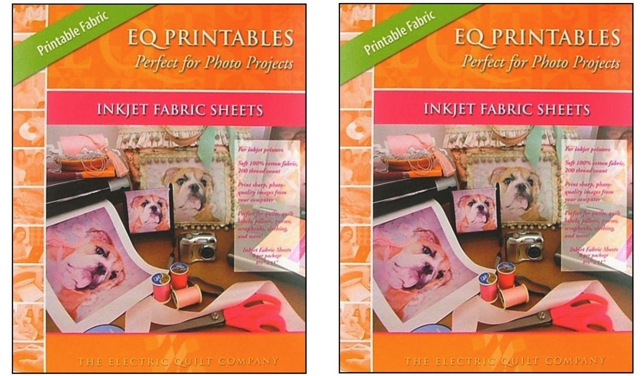 picture regarding Printable Fabric Sheets for Quilting known as EQ Printables Inkjet Cloth Sheets,1 Pack