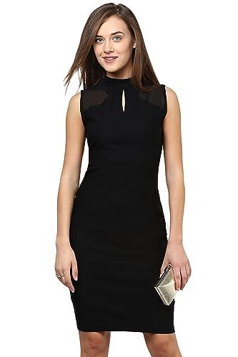 Miss Chase Women's Round Neck Sleeveless Evening Bodycon Dress