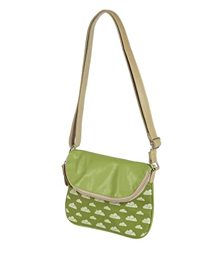 1546b2c652 Quintessential Daydream Cross Body Bag Green   White Clouds Design CLBH-G   Amazon.co.uk  Shoes   Bags