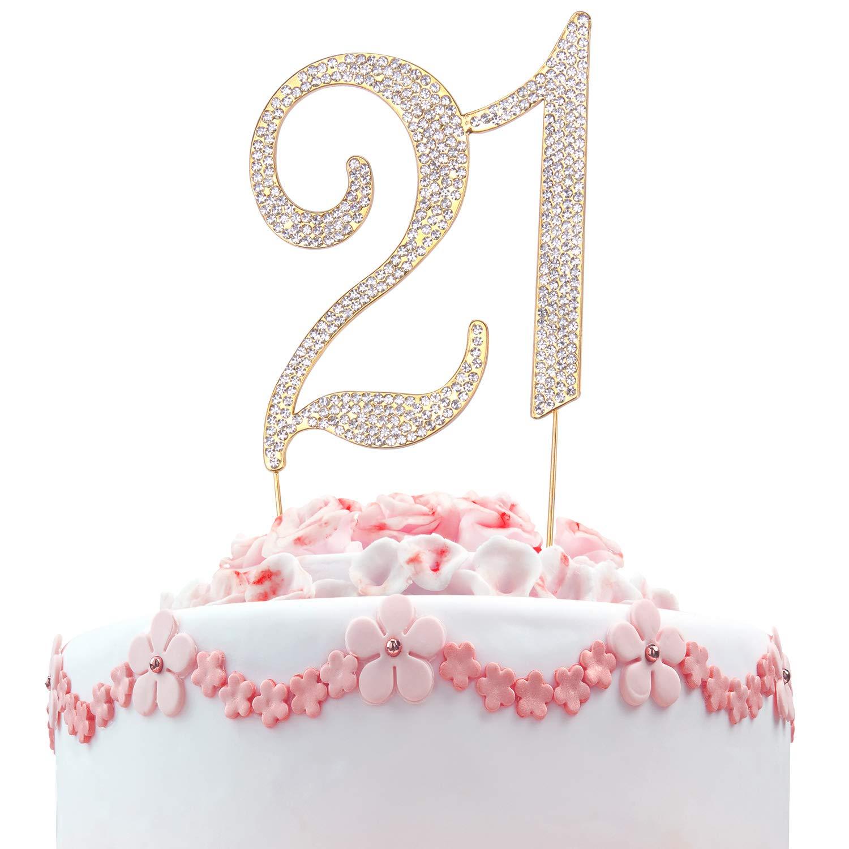 Amazon LaRibbons 21 Birthday Cake Topper
