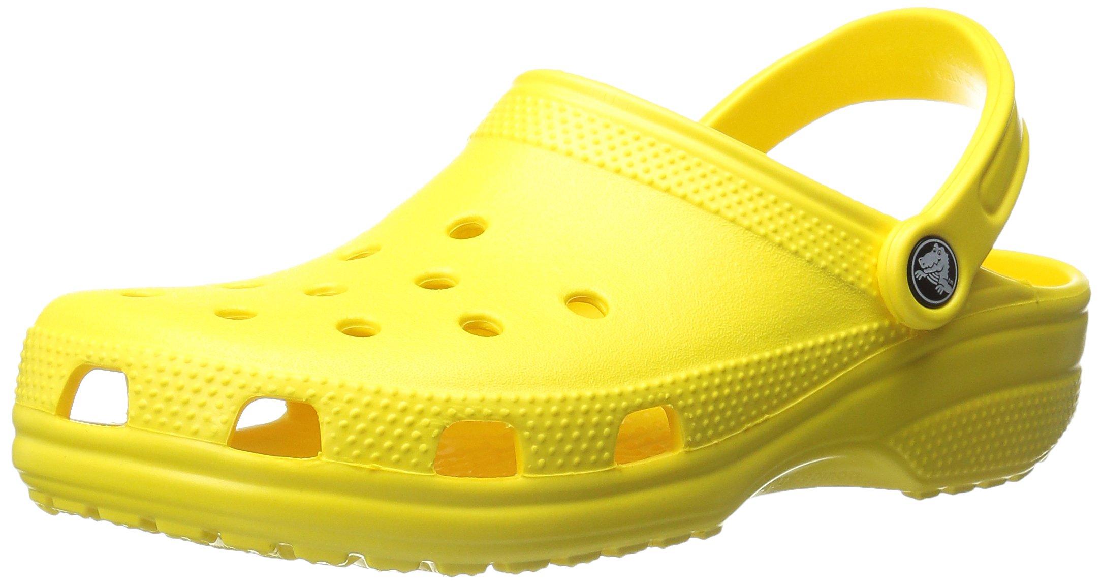 crocs Unisex Classic Clog,  Lemon, 7 US Men / 9 US Women