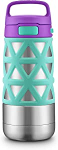 Ello Max Kids Vacuum Insulated Stainless Steel Water Bottle with Silicon Sleeve