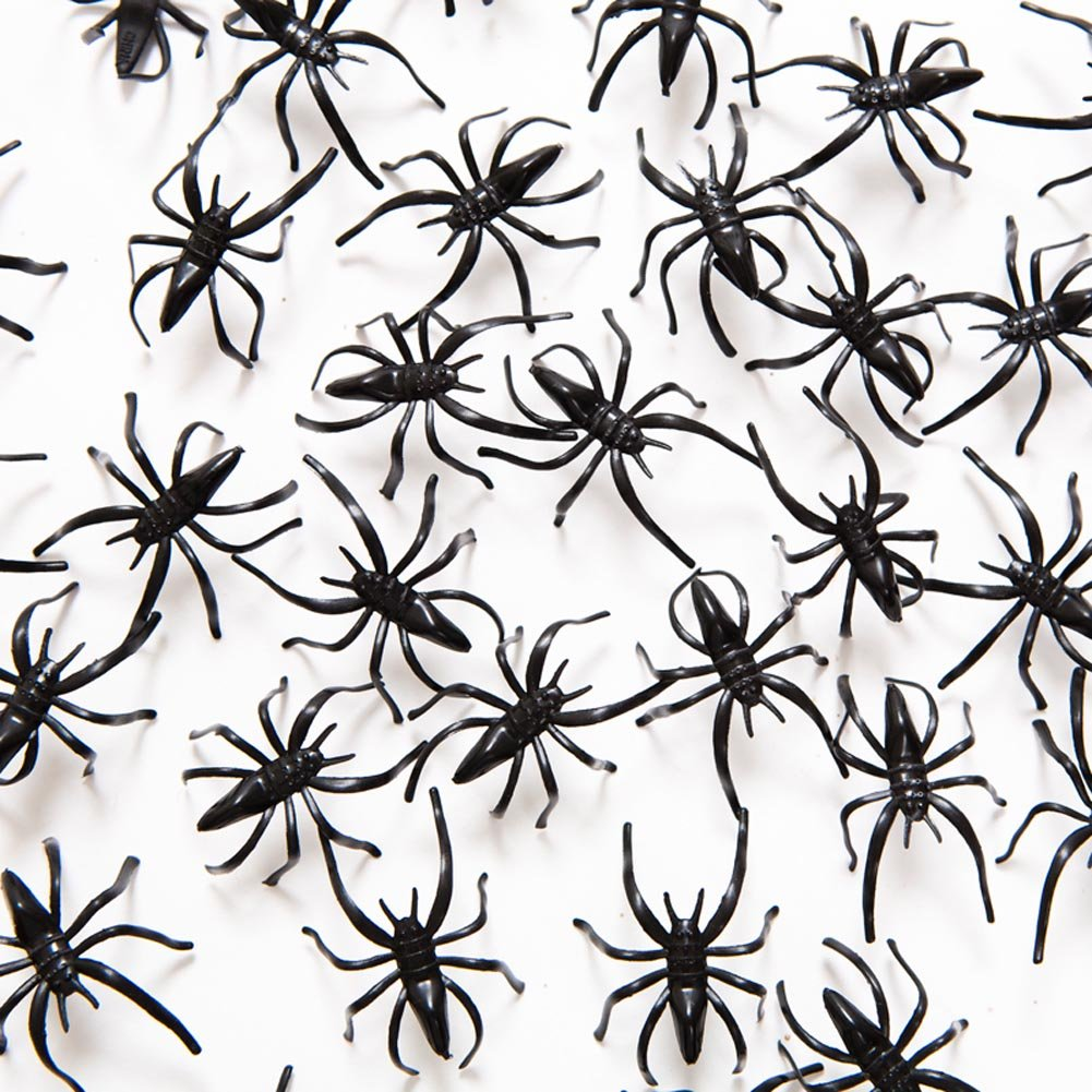 amazoncom fun express plastic halloween spiders party favor 144 pieces toys games - Halloween Spiders