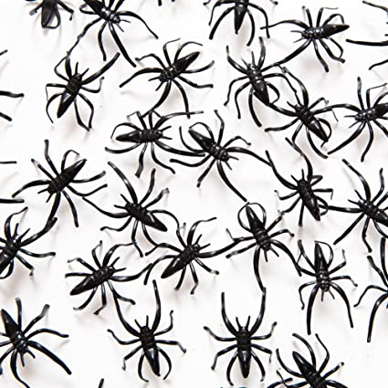 2 Plastic Spiders 72 Pack Toys Games