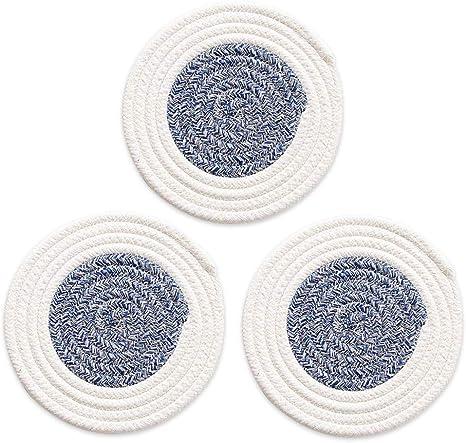 LARGE Woven Cotton Potholders Set of 2 Kitchen Trivet XL Woven Cotton Hot Pads Handmade Woven 100/% Cotton Pot Holders